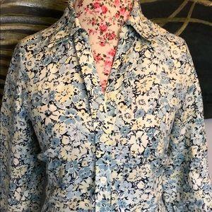 Eddie Bauer floral long dress button down
